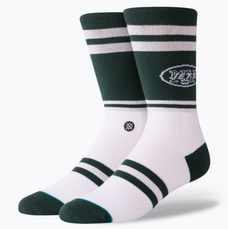 Men's NY Jets Green Stance Socks in Size Large
