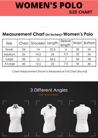 women's polo size chart | the forever print