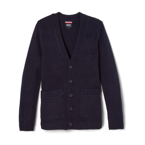 Boys Anti-Pill V-Neck Cardigan - Boston School Uniform