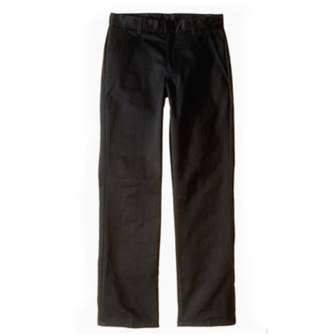 Boys Flat Front Pants - Black