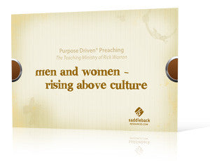 Men and Women: Rising Above Culture