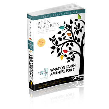 Expanded Purpose Driven Life Book Large Print Edition (Softcover)