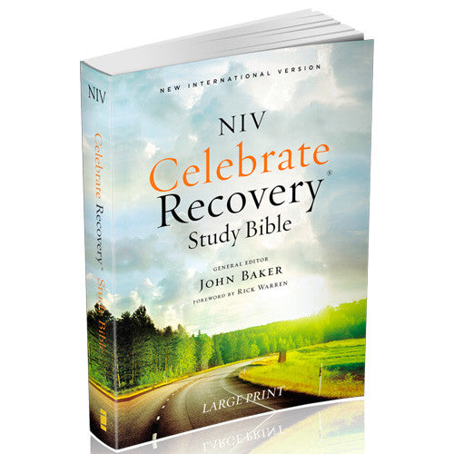 Celebrate Recovery Large Print Study Bible NIV (Softcover)