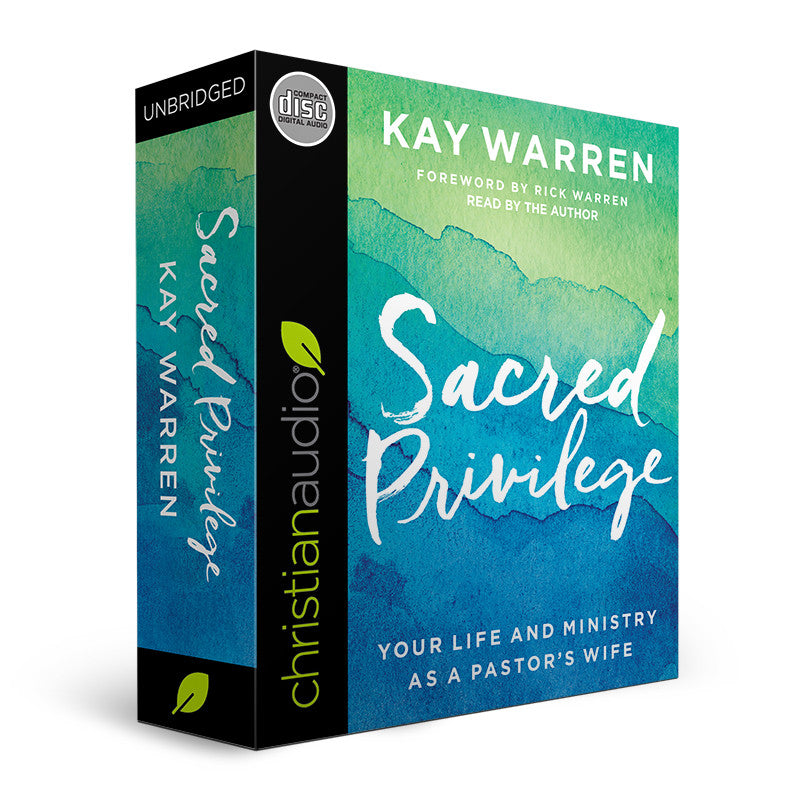 Sacred Privilege: Your Life and Ministry as a Pastor's Wife (Audio Book on CD)