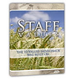 Staff Values: The 10 Values of Leadership (DVD and Outline)