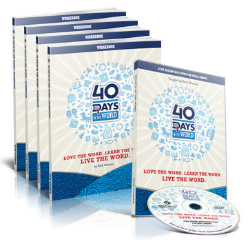 40 Days in the Word Small Group Starter Pack (DVD and 4 Participant Workbooks)