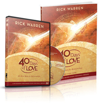 40 Days of Love Starter Kit (DVD and Study Guide)