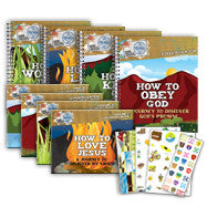 Sample Curriculum Preview Kit - Pre-K-Grade 2 (4 Workbooks, 4 Sticker Pages, and 4 Activity Books)