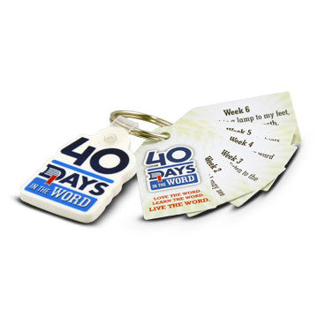 40 Days In the Word Key Tags (Pack of 25)