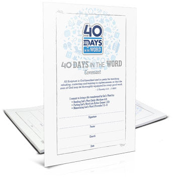 40 Days in the Word Covenant Card (Pack of 25)