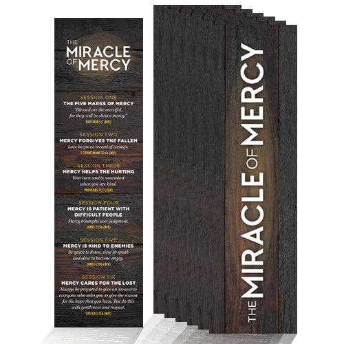 The Miracle of Mercy Memory Verse Bookmarks (Pack of 25)