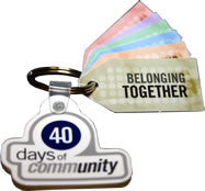 40 Days of Community Memory Verse Key Tag Set (10 sets of 6 tags and 1 key fob)