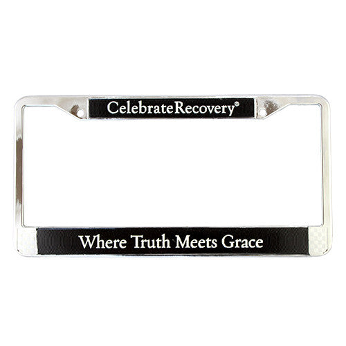 Where Truth Meets Grace License Plate Frame