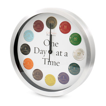 Celebrate Recovery One Day at a Time Clock