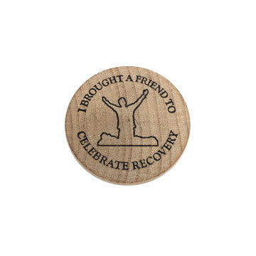 Celebrate Recovery Wooden Nickel