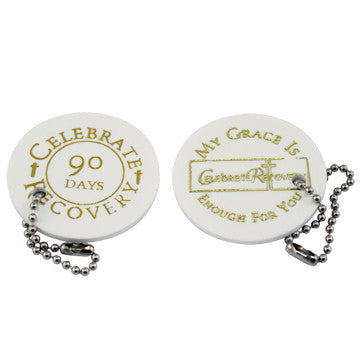 Celebrate Recovery Chip 90-Day - White