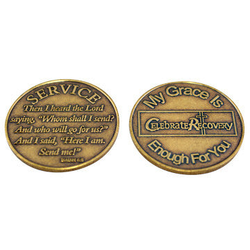 Celebrate Recovery Specialty Bronze Coin - Service