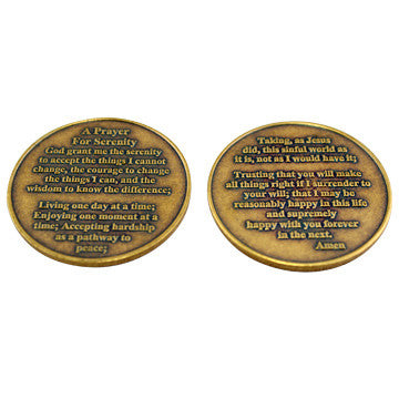 Celebrate Recovery Specialty Bronze Coin - Serenity Prayer