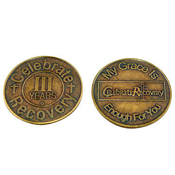 Celebrate Recovery Bronze Coin - 3 Year