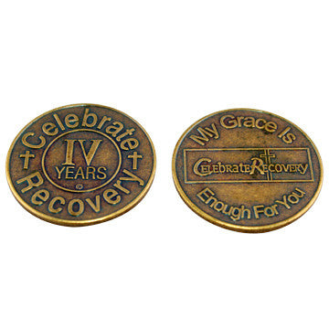 Celebrate Recovery Bronze Coin - 4 Year