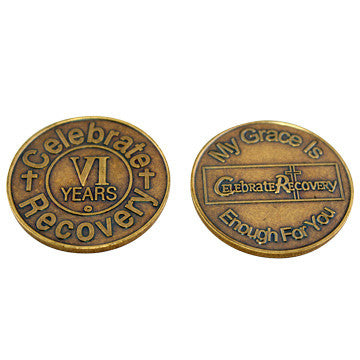 Celebrate Recovery Bronze Coin - 6 Year