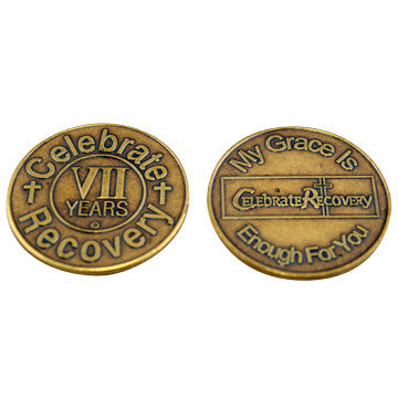 Celebrate Recovery Bronze Coin - 7 Year