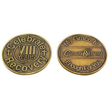 Celebrate Recovery Bronze Coin - 8 Year