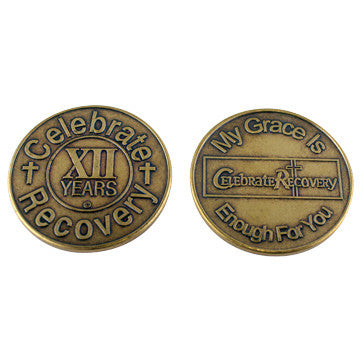 Celebrate Recovery Bronze Coin - 12 Year
