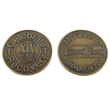 Celebrate Recovery Bronze Coin - 14 Year