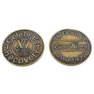 Celebrate Recovery Bronze Coin - 15 Year