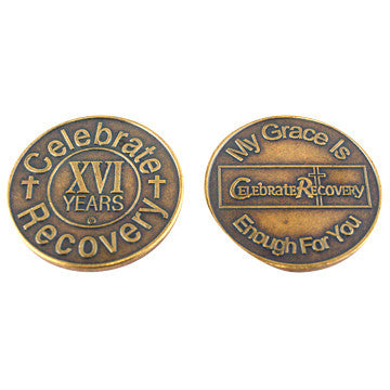 Celebrate Recovery Bronze Coin - 16 Year
