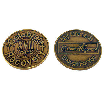 Celebrate Recovery Bronze Coin - 17 Year