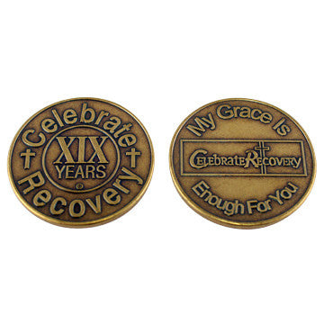 Celebrate Recovery Bronze Coin - 19 Year