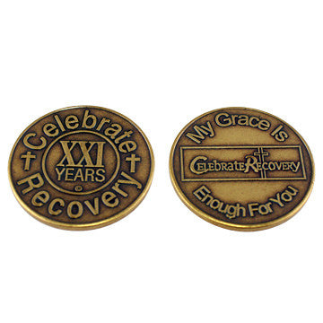 Celebrate Recovery Bronze Coin - 21 Year