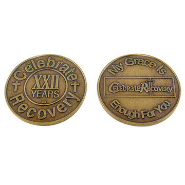Celebrate Recovery Bronze Coin - 22 Year