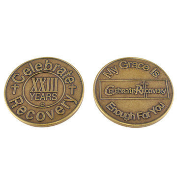 Celebrate Recovery Bronze Coin - 23 Year