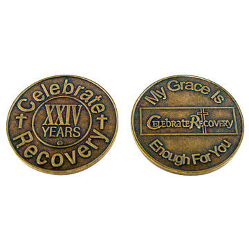 Celebrate Recovery Bronze Coin - 24 Year