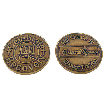 Celebrate Recovery Bronze Coin - 26 Year