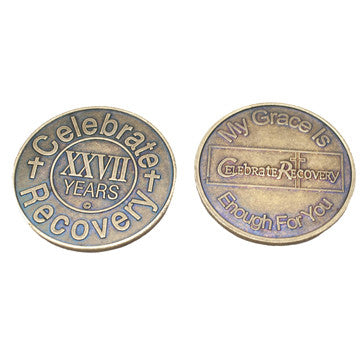 Celebrate Recovery Bronze Coin - 27 Year