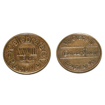 Celebrate Recovery Bronze Coin - 28 Year