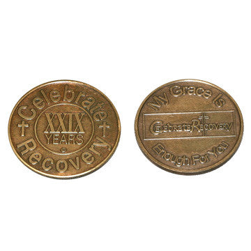 Celebrate Recovery Bronze Coin - 29 Year