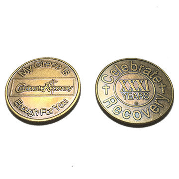 Celebrate Recovery Bronze Coin - 31 Year