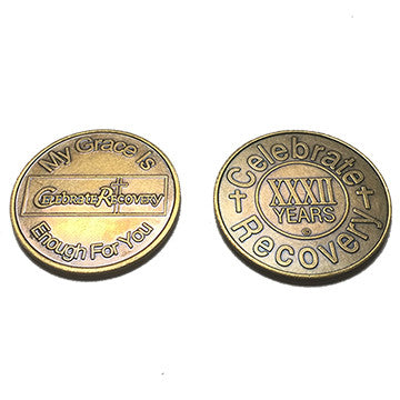 Celebrate Recovery Bronze Coin - 32 Year