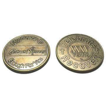 Celebrate Recovery Bronze Coin - 35 Year