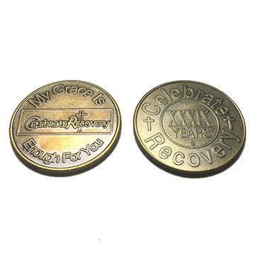 Celebrate Recovery Bronze Coin - 39 Year