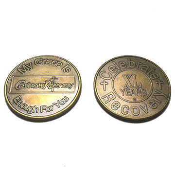 Celebrate Recovery Bronze Coin - 40 Year
