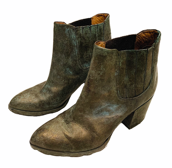 """Alberto Farmani"" Rusted Short Heels"