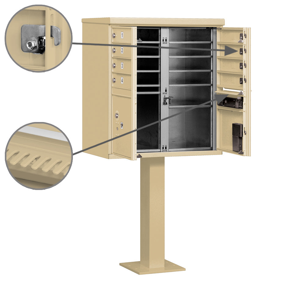 Salsbury Insdustries Cluster Box Unit With 8 Doors And 2 Parcel Locker The Mailbox Plus