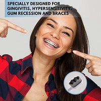 Pain Free Micro Nano Toothbrush with 20,000 Ultra Soft Charcoal Bristles. (2 Pack) Black / White