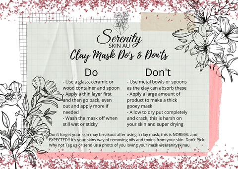 Do' and Don'ts of clay face masks
